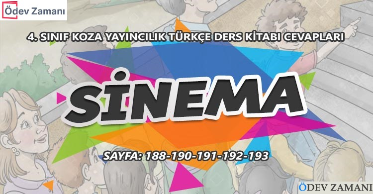 4 Sinif Turkce Ders Kitabi Sayfa 190 191 192 193 Cevaplari Koza