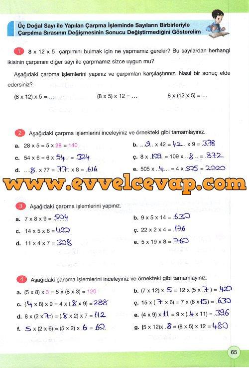 matematik calisma kitabi sayfa 65