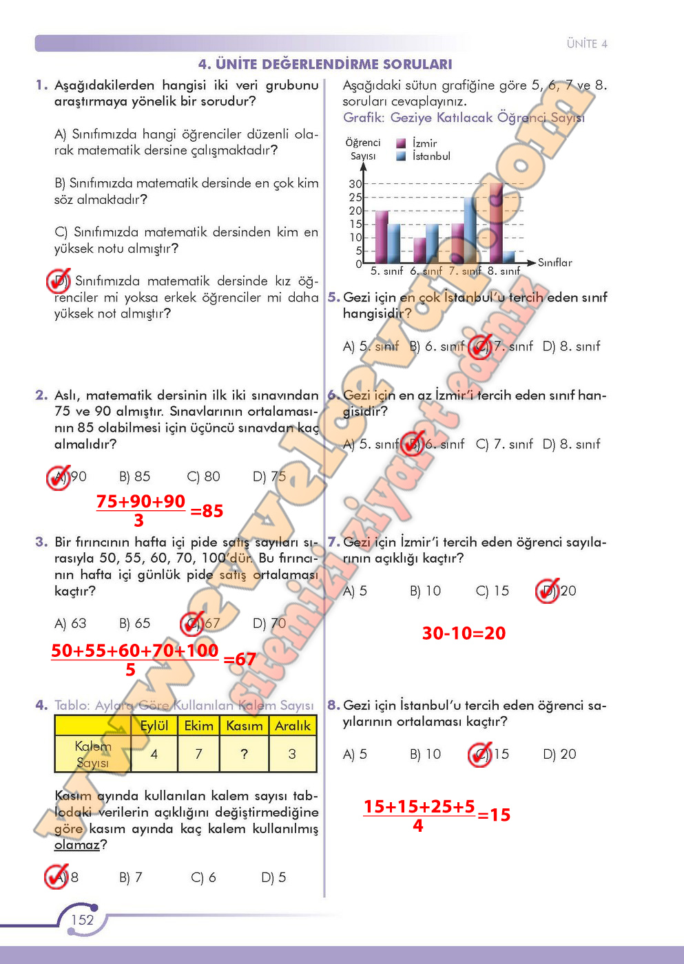 6 sinif matematik kitabi cevaplari meb